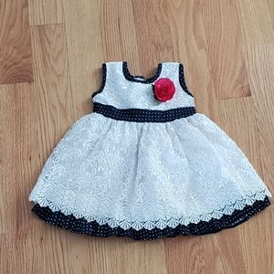 Cute white lace dress baby 3 to 6 months